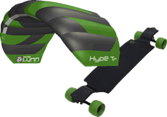 kite set PL Hype TR + longboard MBS All Terrain