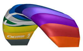 KITE 2018 CROSS AIR rainbow - tréninkový kite